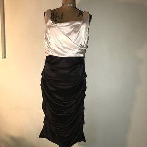 Black & White Silky Dress